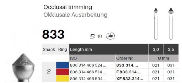 FG diamant - okluzní 833